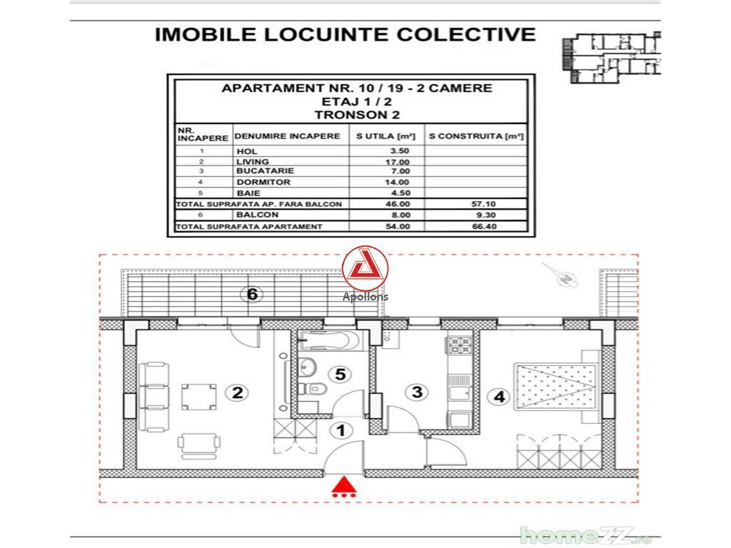 Apartament 2 camere in bloc 2018,  Mosilor