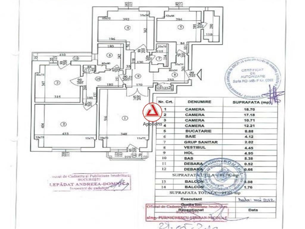 Vanzare apartament 4 camere Piata Unirii