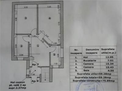 Apartament 2camere, in constructie 2016, Banu Manta