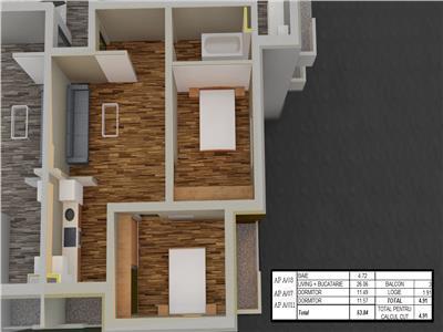 Vanzare Apartament Nou in Hipodrom 4, Sibiu