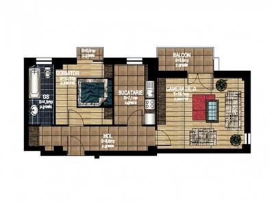 Vanzare Apartament Nou 2 CAM. tip B - Pacurari, Iasi