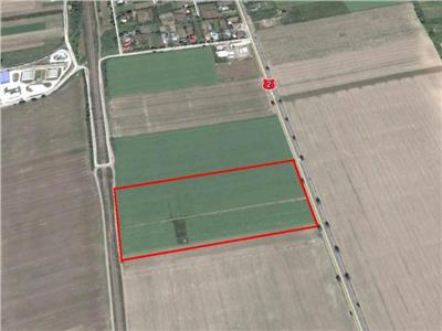 Teren Dumbrava.14,3 ha la E85. Zona industriala. 8 Euro/mp