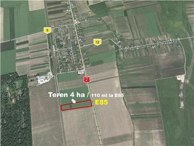 Zona industriala, 4 ha la intrare in Dumbrava - la E85