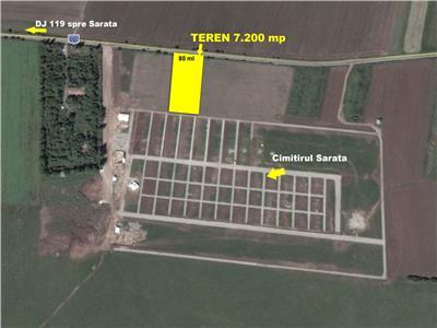 Vanzare Teren intravilan zona Cimitir Sarata, Bacau